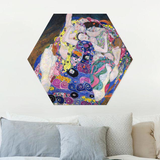 Hexagon Bild Forex - Gustav Klimt - Die Jungfrau