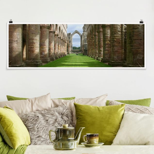 Poster - Fountains Abbey - Panorama Querformat