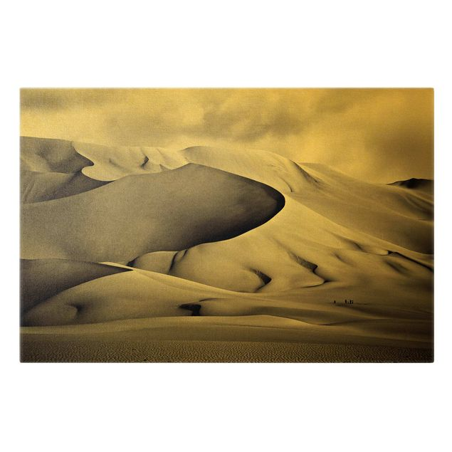 Leinwandbild Gold - Im Süden der Sahara - Querformat 3:2