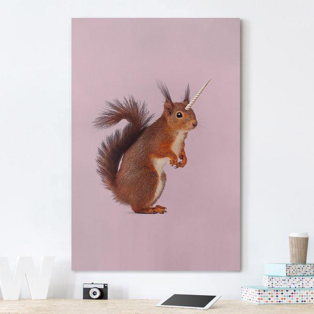 Leinwandbild - Jonas Loose - Einhörnchen - Hochformat 3:2