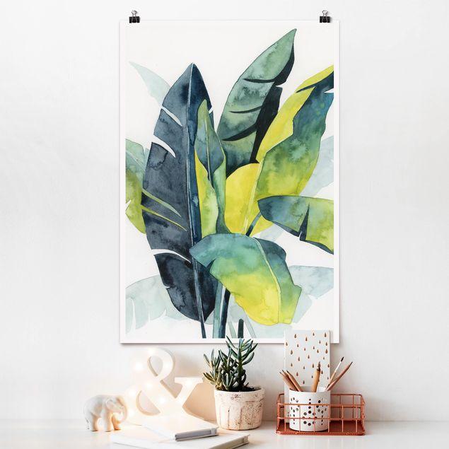 Poster - Tropisches Blattwerk - Banane - Hochformat 3:2