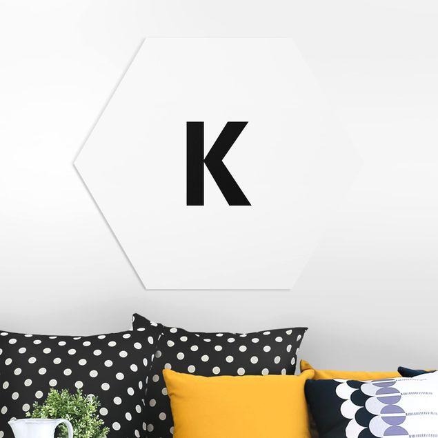 Hexagon Bild Forex - Buchstabe Weiß K