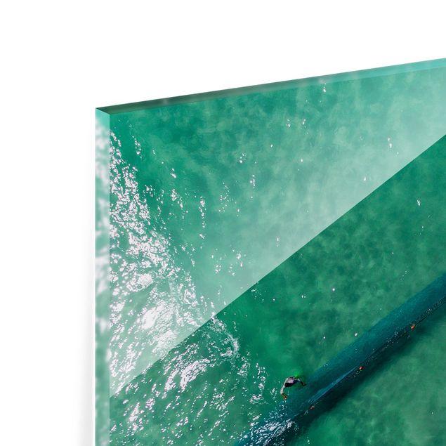 Glas Spritzschutz - Luftbild - Fischer - Querformat - 4:3