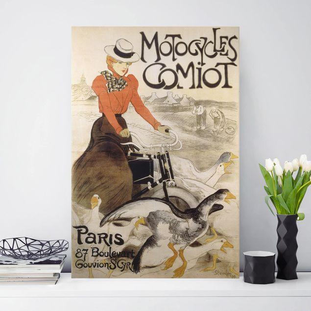 Leinwandbild - Théophile-Alexandre Steinlen - Werbeplakat für Motorcycles Comiot - Hochformat 3:2