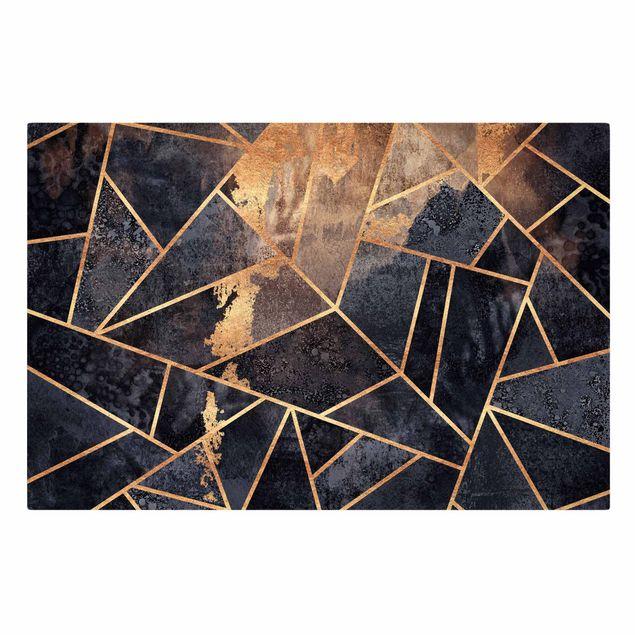 Leinwandbild - Elisabeth Fredriksson - Onyx mit Gold - Querformat 3:2