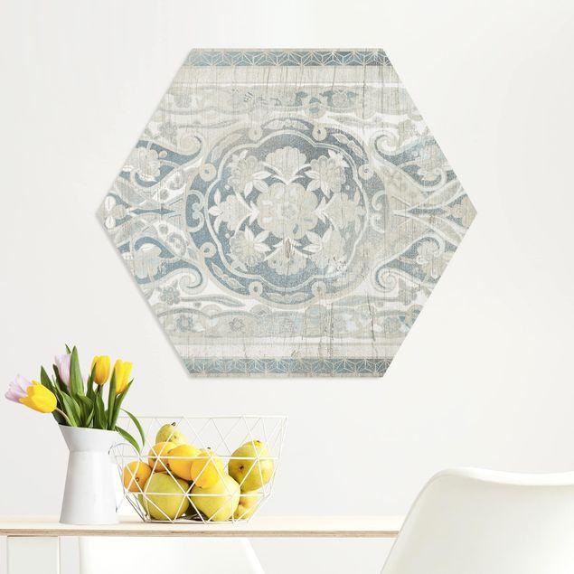 Hexagon Bild Forex - Holzpaneel Persisch Vintage IV