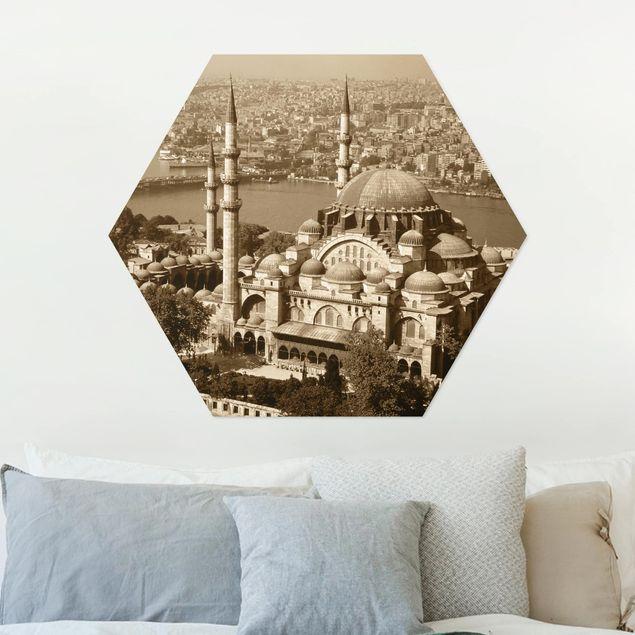 Hexagon Bild Alu-Dibond - Old Mosque