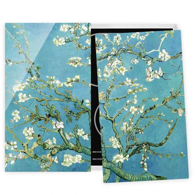 Herdabdeckplatte Glas - Vincent van Gogh - Mandelblüte - 52x80cm