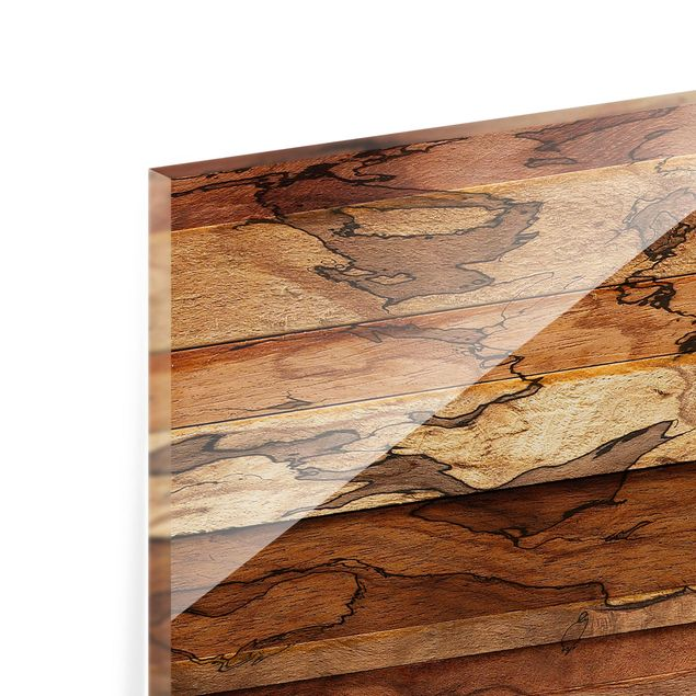 Glas Spritzschutz - Woody Flamed Garderobe - Quadrat - 1:1