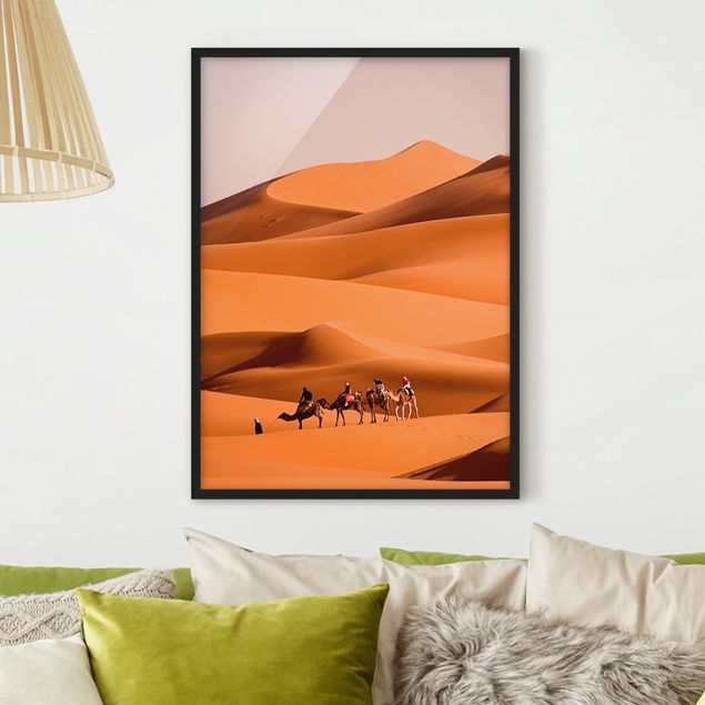 Bild mit Rahmen - Namib Desert - Hochformat 3:4