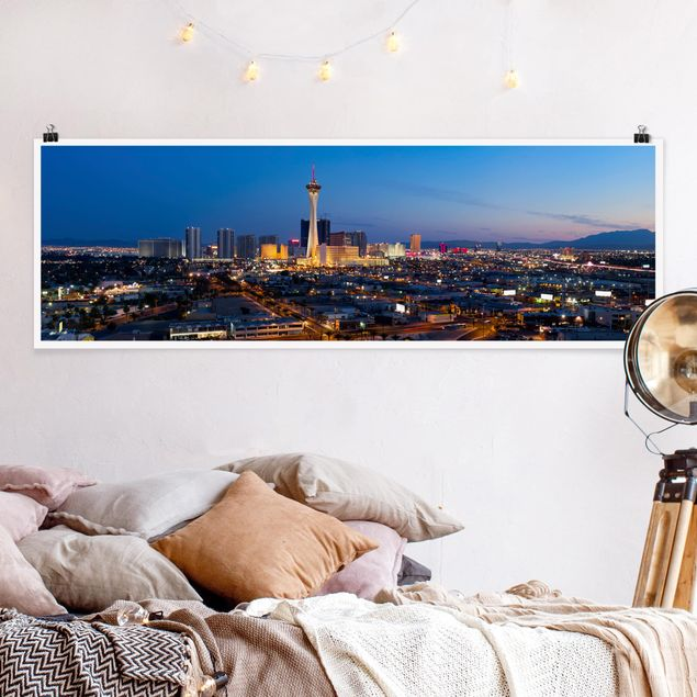 Poster - Viva Las Vegas - Panorama Querformat