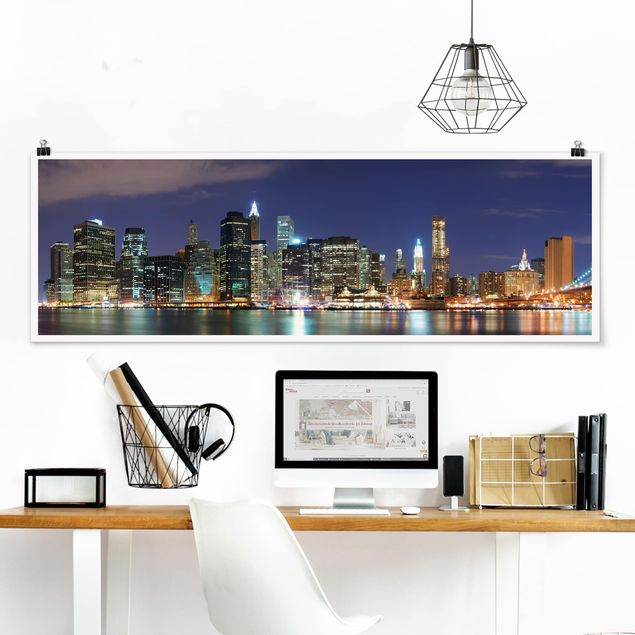 Poster - Manhattan in New York City - Panorama Querformat
