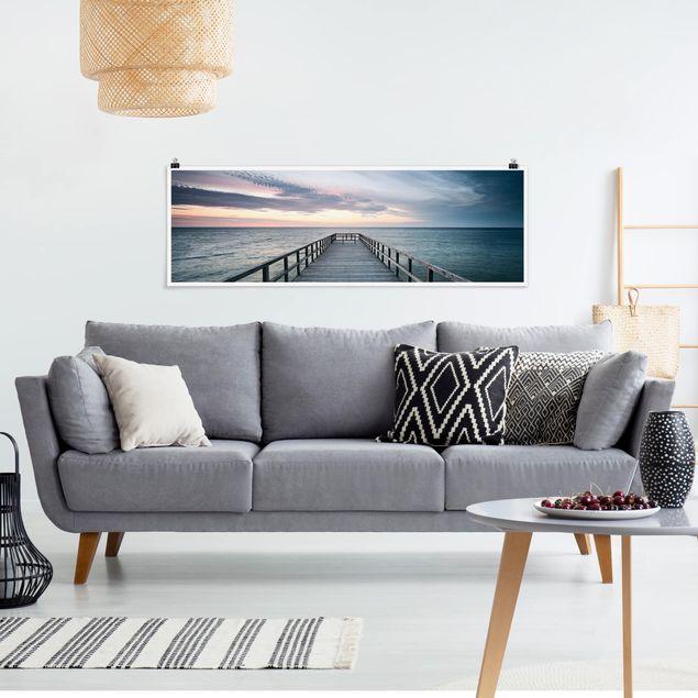 Poster - Steg Promenade - Panorama Querformat