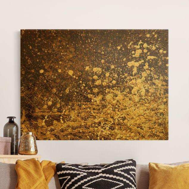 Leinwandbild Gold - Goldene Unruhe - Querformat 4:3