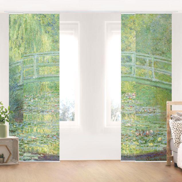 Schiebegardinen Set - Claude Monet - Japanische Brücke - 4 Flächenvorhänge