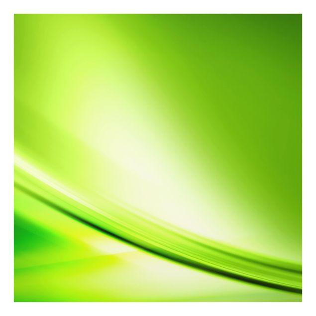 Glas Spritzschutz - Green Valley - Quadrat - 1:1