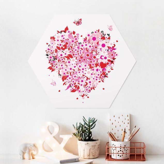 Hexagon Bild Forex - Floral Retro Heart