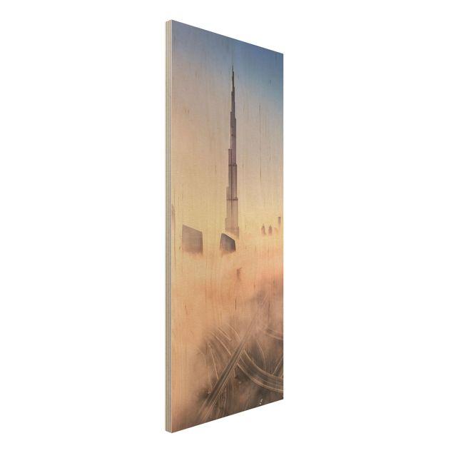 Holzbild - Himmlische Skyline von Dubai - Panel