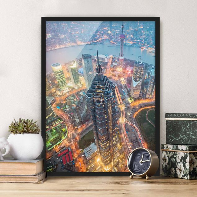 Bild mit Rahmen - Shanghai - Hochformat 3:4