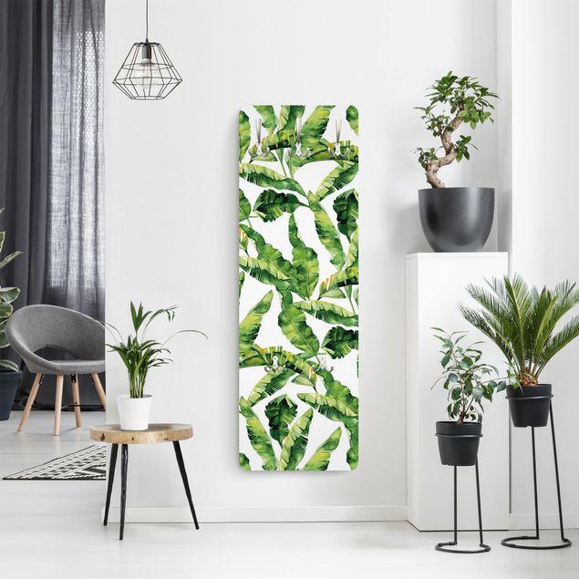 Garderobe - Bananenblatt Aquarell Muster