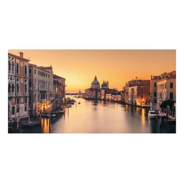 Forex Fine Art Print - Goldenes Venedig - Querformat 1:2