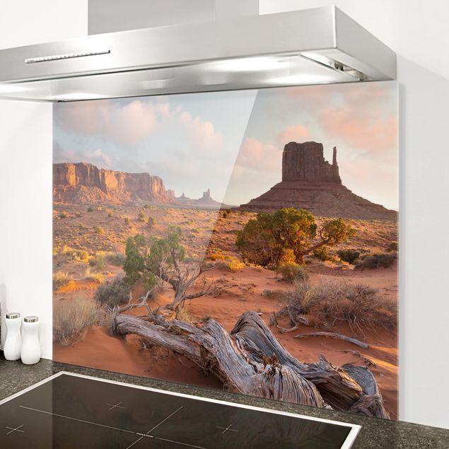 Glas Spritzschutz - Monument Valley Navajo Tribal Park Arizona - Querformat - 4:3