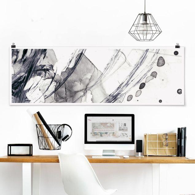 Poster - Sonar Schwarz Weiß I - Panorama Querformat