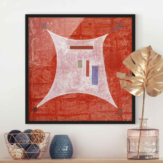 Bild mit Rahmen - Wassily Kandinsky - Vier Ecken - Quadrat 1:1