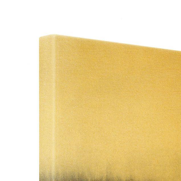 Leinwandbild Gold - Goldspuren in Aquarell - Quadrat 1:1