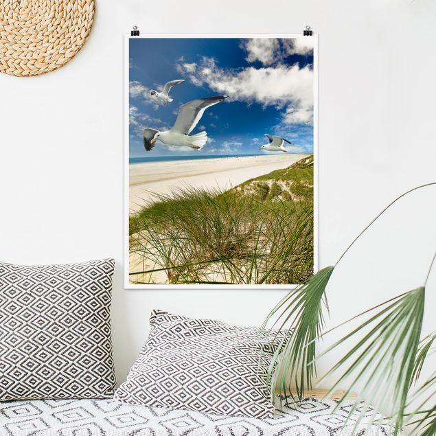 Poster - Dune Breeze - Hochformat 3:4