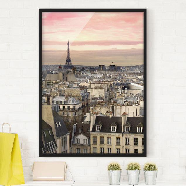 Bild mit Rahmen - Paris hautnah - Hochformat 3:4