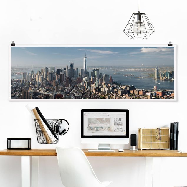Poster - Blick vom Empire State Building - Panorama Querformat