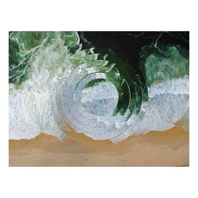 Glas Spritzschutz - Geometrie trifft Strand - Querformat - 4:3