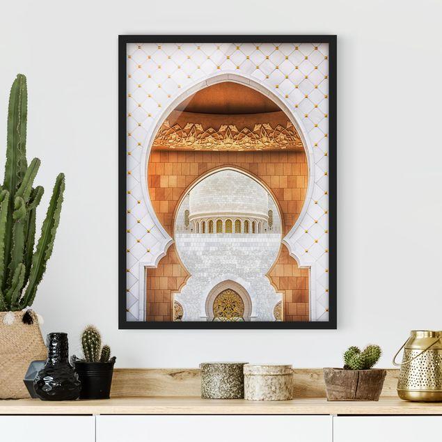 Bild mit Rahmen - Tor der Moschee - Hochformat 3:4