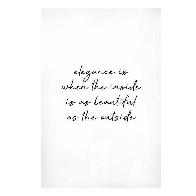 Leinwandbild - Beautiful Elegance - Hochformat 2:3