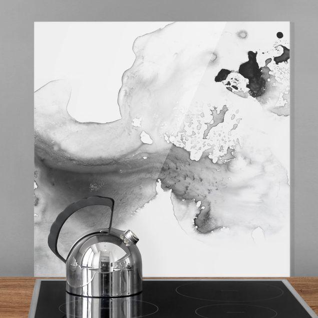 Glas Spritzschutz - Dunst und Wasser II - Quadrat - 1:1