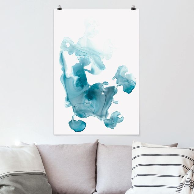 Poster - Aquamarin im Dunst II - Hochformat 3:2