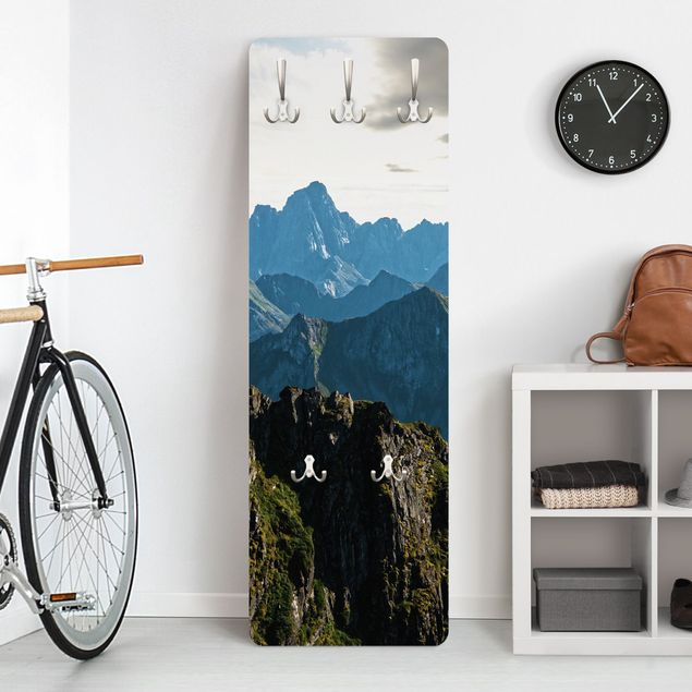 Garderobe - Berge auf den Lofoten