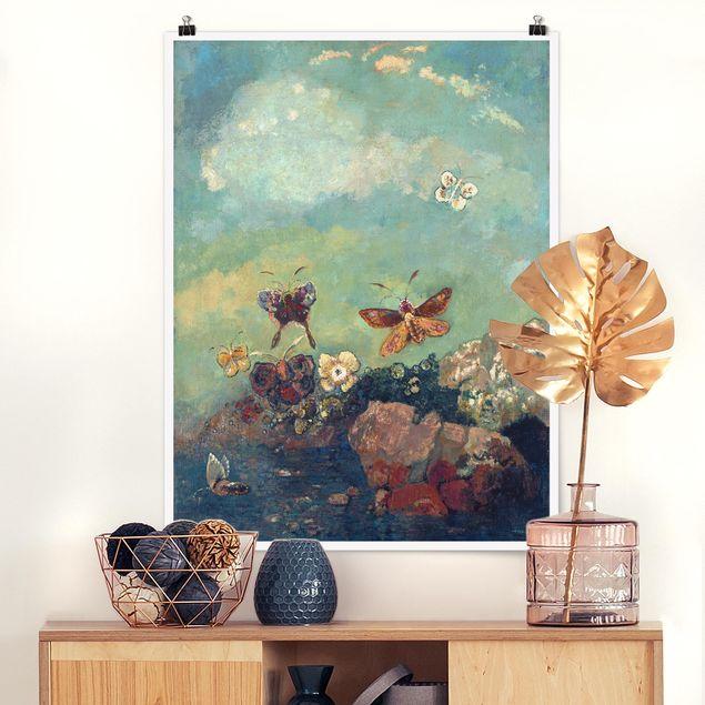 Poster - Odilon Redon - Schmetterlinge - Hochformat 3:4
