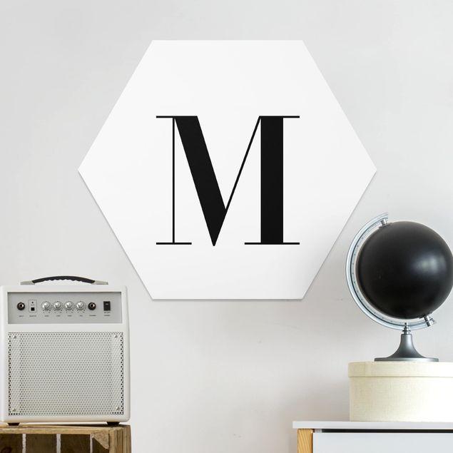 Hexagon Bild Forex - Buchstabe Serif Weiß M