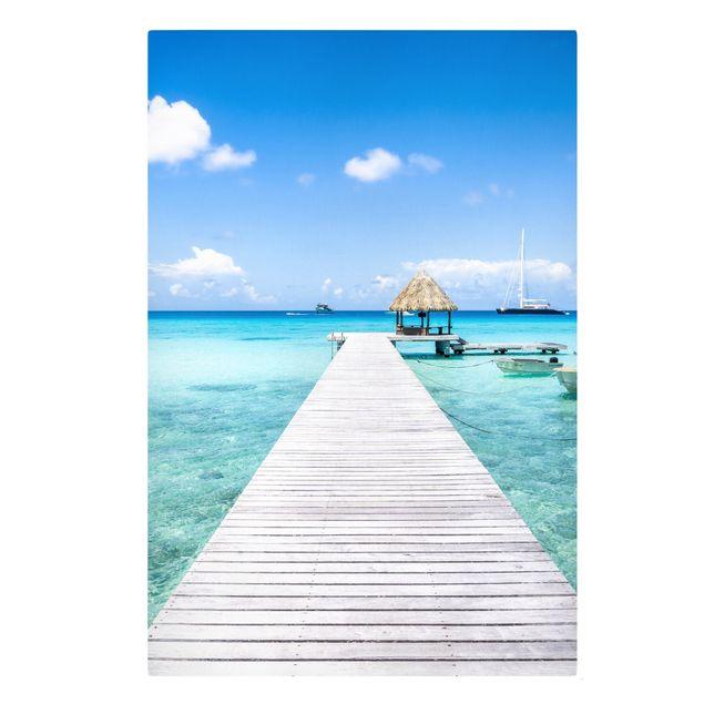 Leinwandbild - Urlaub in den Tropen - Hochformat 2:3