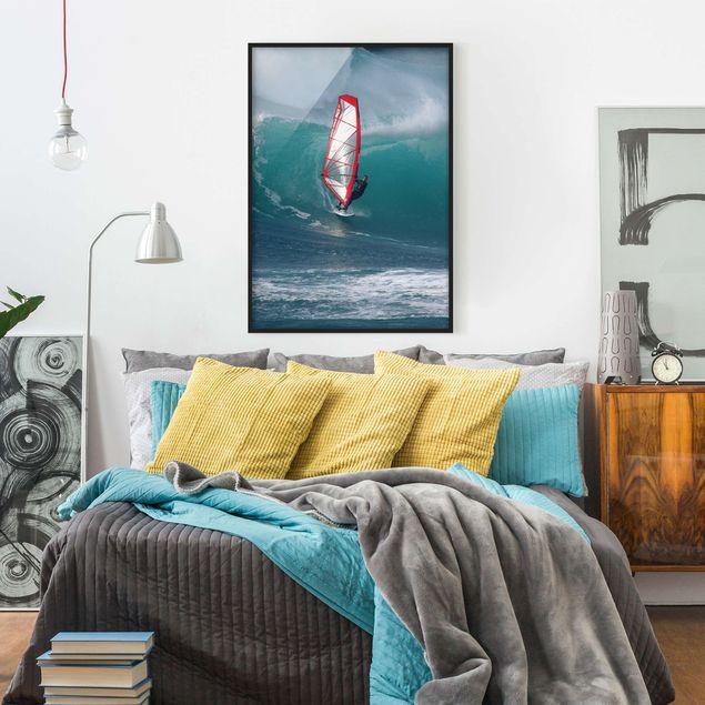 Bild mit Rahmen - The Surfer - Hochformat 3:4