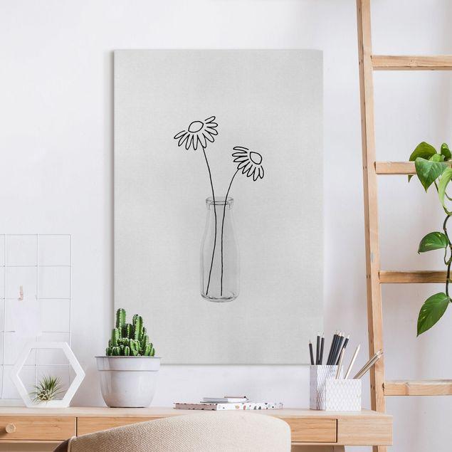 Leinwandbild - Blumen Stillleben - Hochformat 2:3