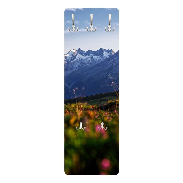 Garderobe - Blumenwiese in den Bergen