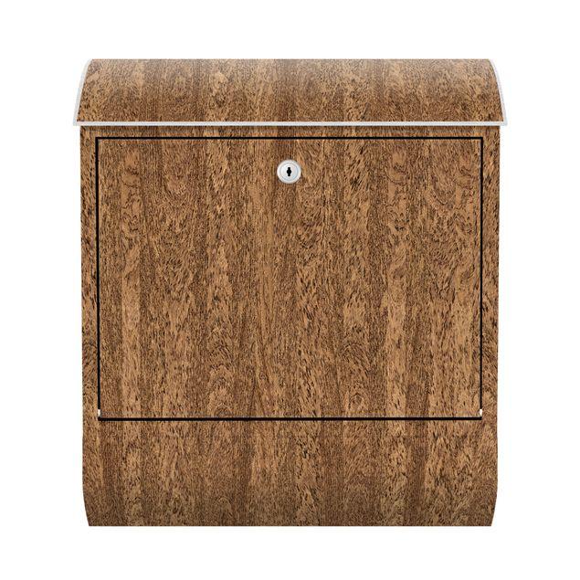 Briefkasten Holz - Amburana - Holzoptik Wandbriefkasten Braun