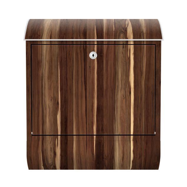 Briefkasten Holz - Manio - Holzoptik Wandbriefkasten Braun