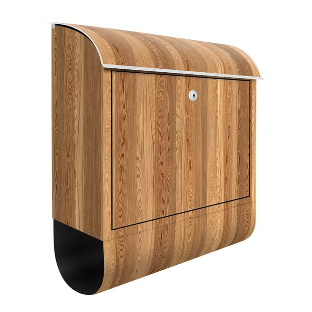 Briefkasten Holz - Sen - Holzoptik Wandbriefkasten Braun