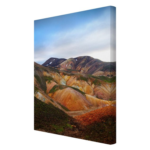 Leinwandbild - Bunte Berge in Island - Hochformat 2:3