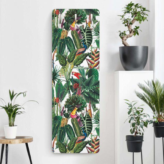 Garderobe - Bunter tropischer Regenwald Muster