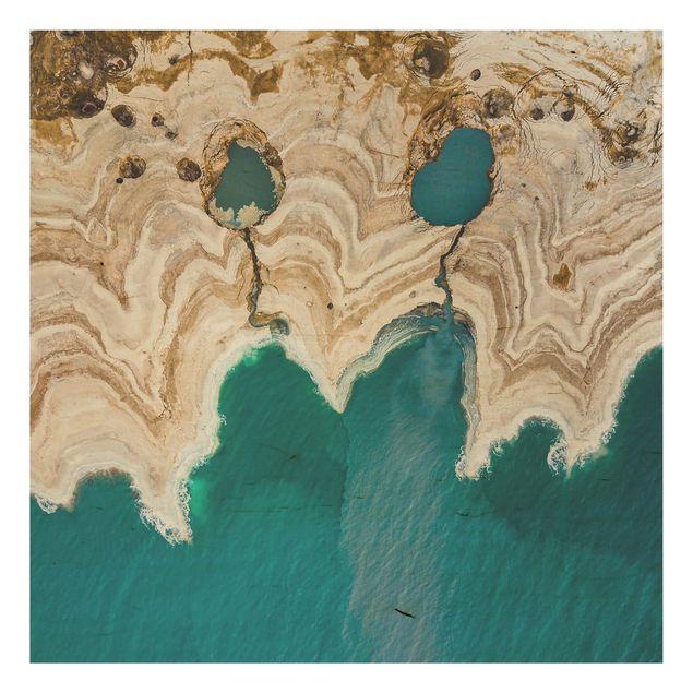 Holzbild - Lagune in Israel - Quadrat 1:1